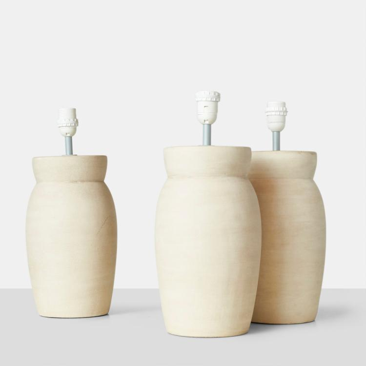 Set of 3 Ceramic Lamps by Frandsen