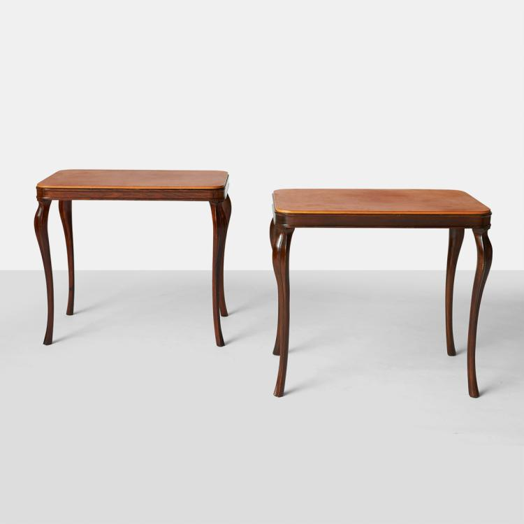 Extremely Rare & Beautiful Frits Henningsen Side Tables