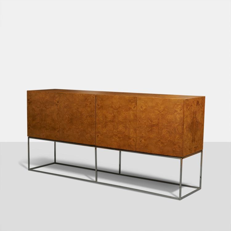 Milo Baughman, Burled Sideboard for Thayer Coggin