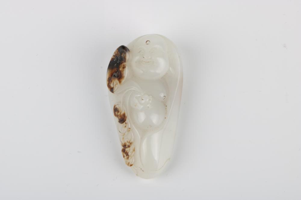 White jade Buddha pendant
