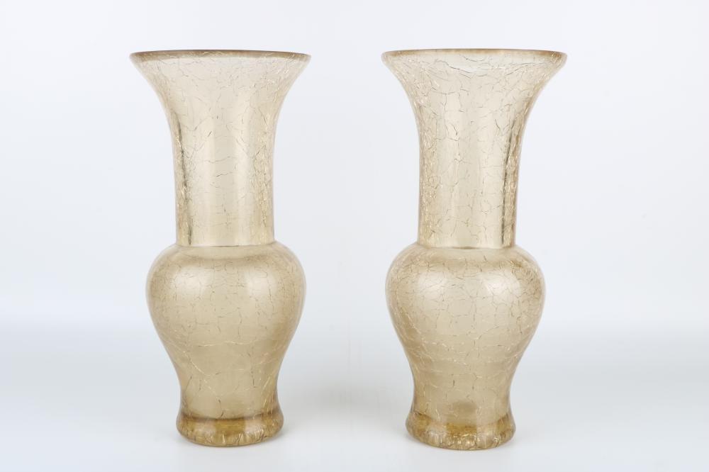Pair of glass vase