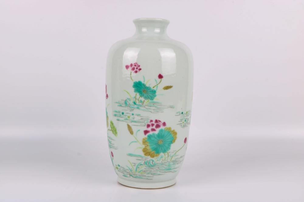 Yongzheng famille rose bottle