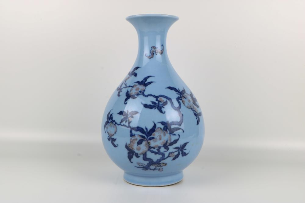 Qianlong Blue and White Spring Pot