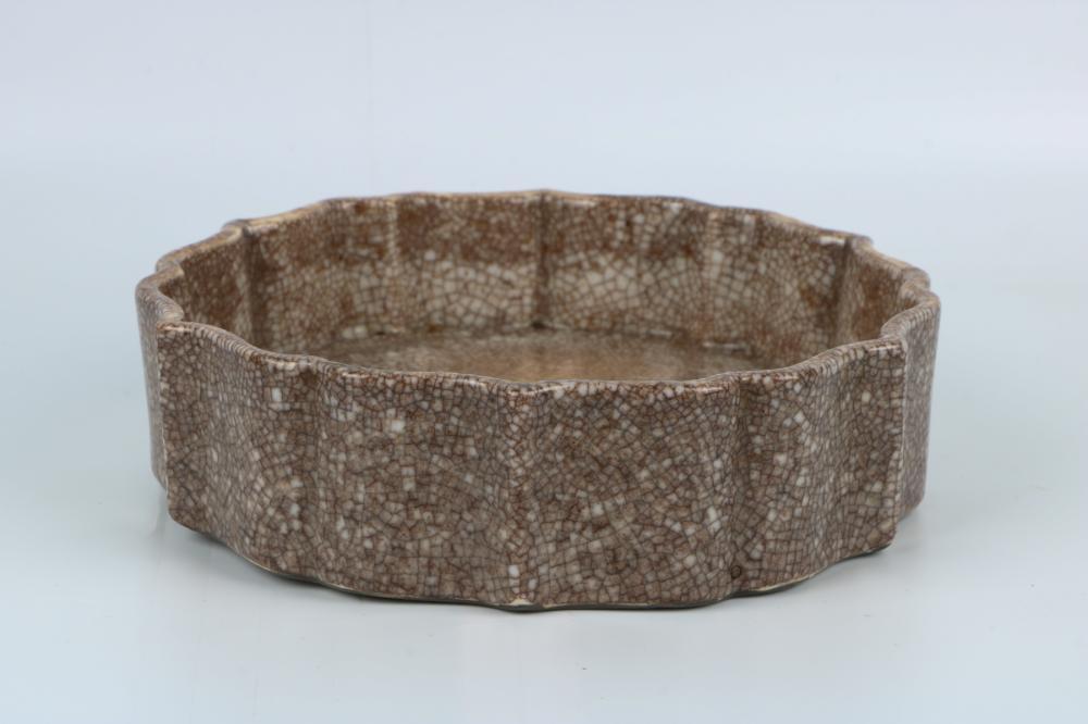 Qianlong Ge Glaze Brush Pot
