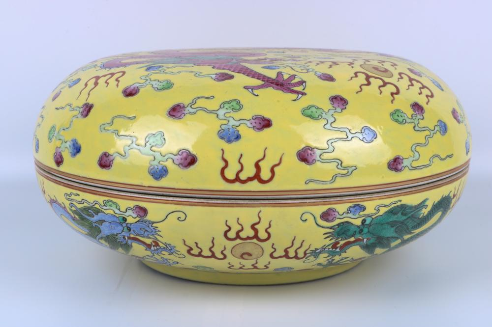 Qing Dynasty famille rose box