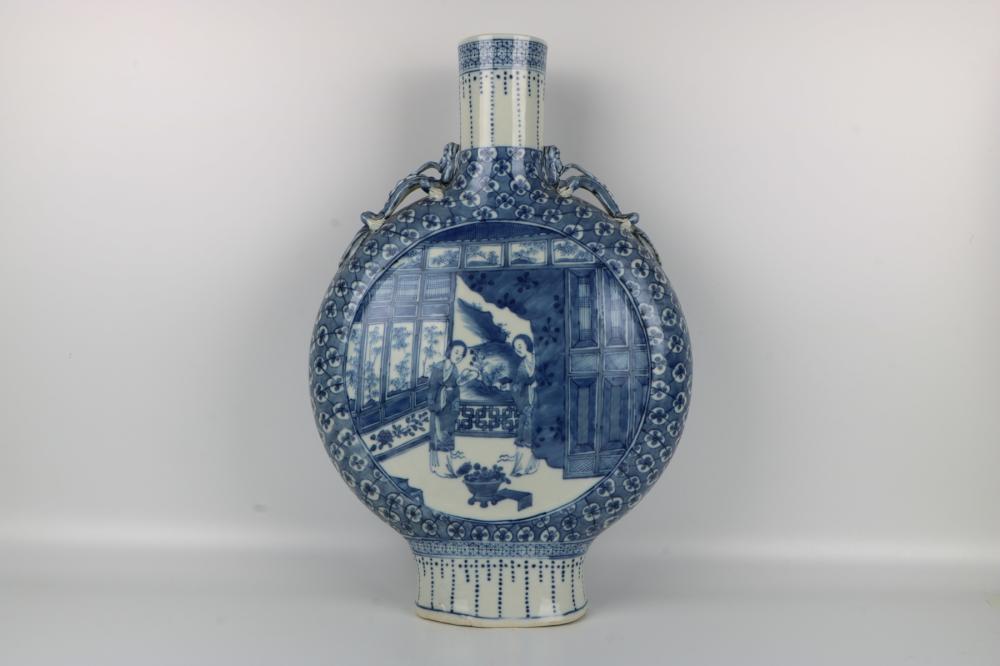 Guangxu blue and white bottles