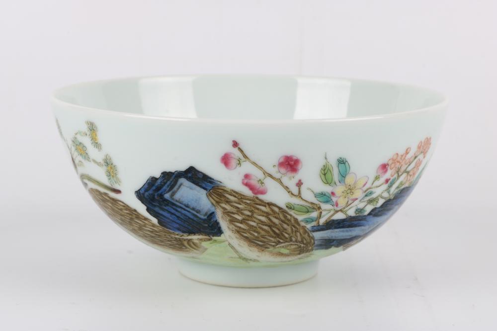 Famille rose bowl