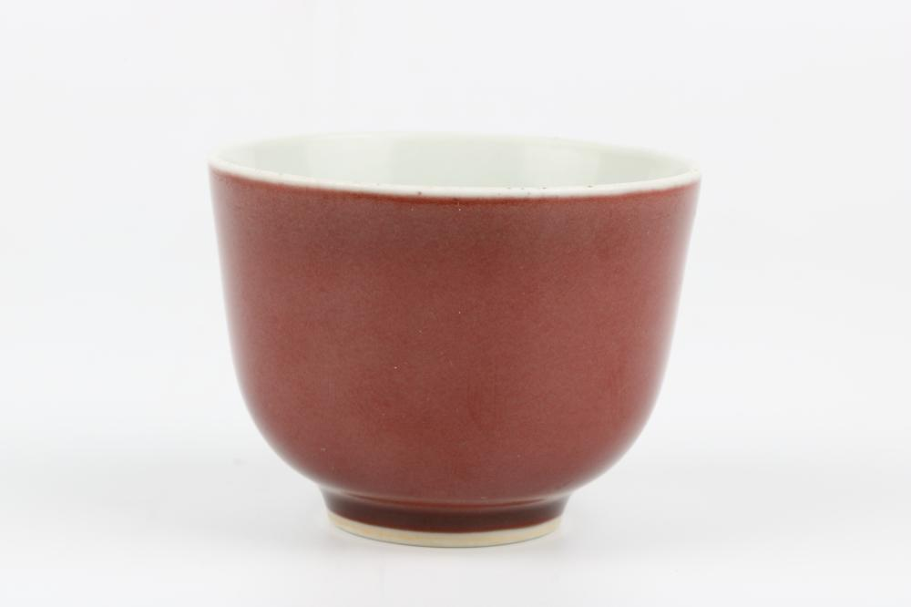 Red glazed cup