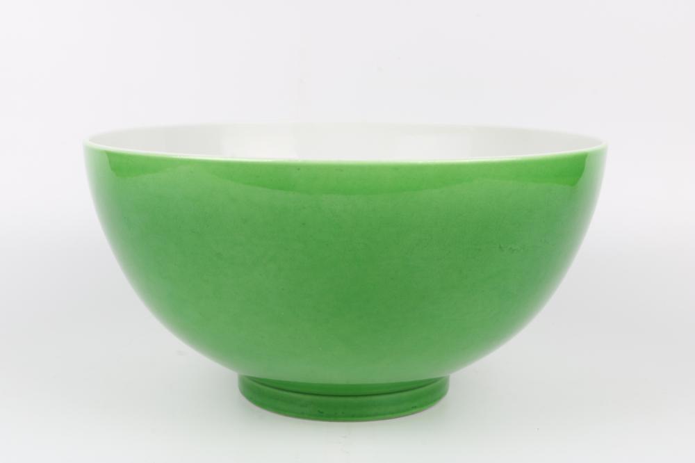 Green glaze bowl