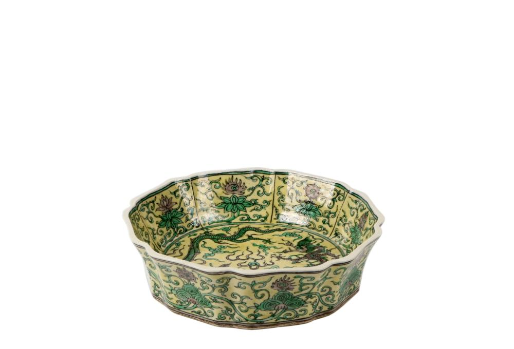 Qing Kuangxu 3 color ,Dragon pattern bowl