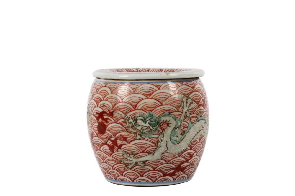 Late Qing Dynasty pastel pot
