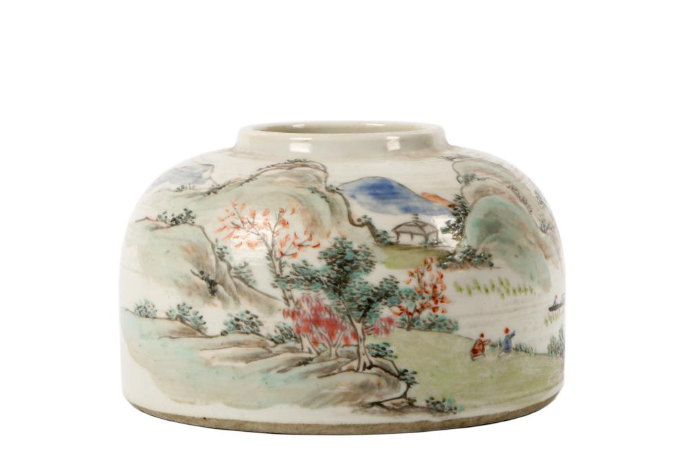 Late Qing China with colorful paint one