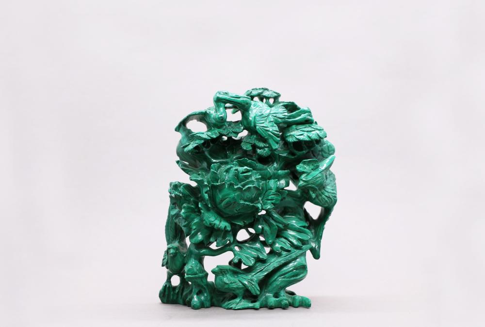 Malachite carvings