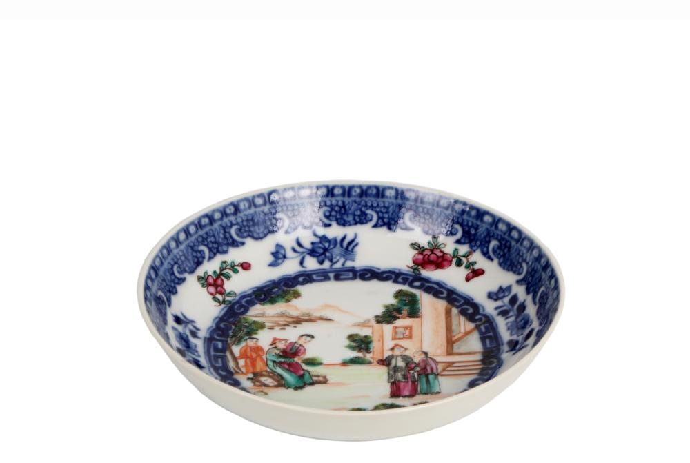 Blue and white underglazed Character porcelain plate