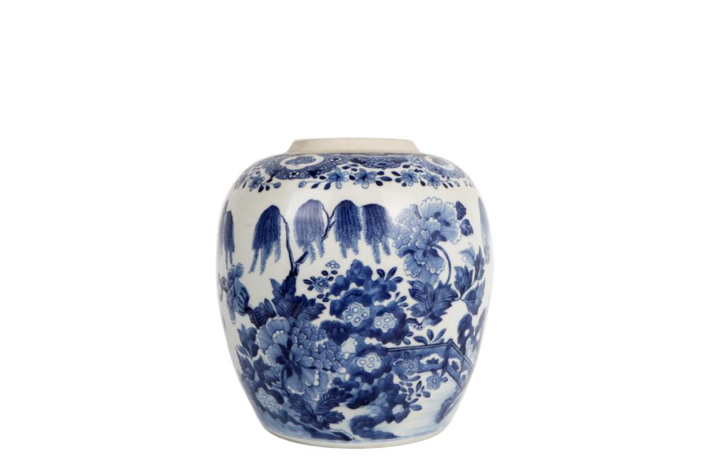 underglazed blue white porcelain flower pot
