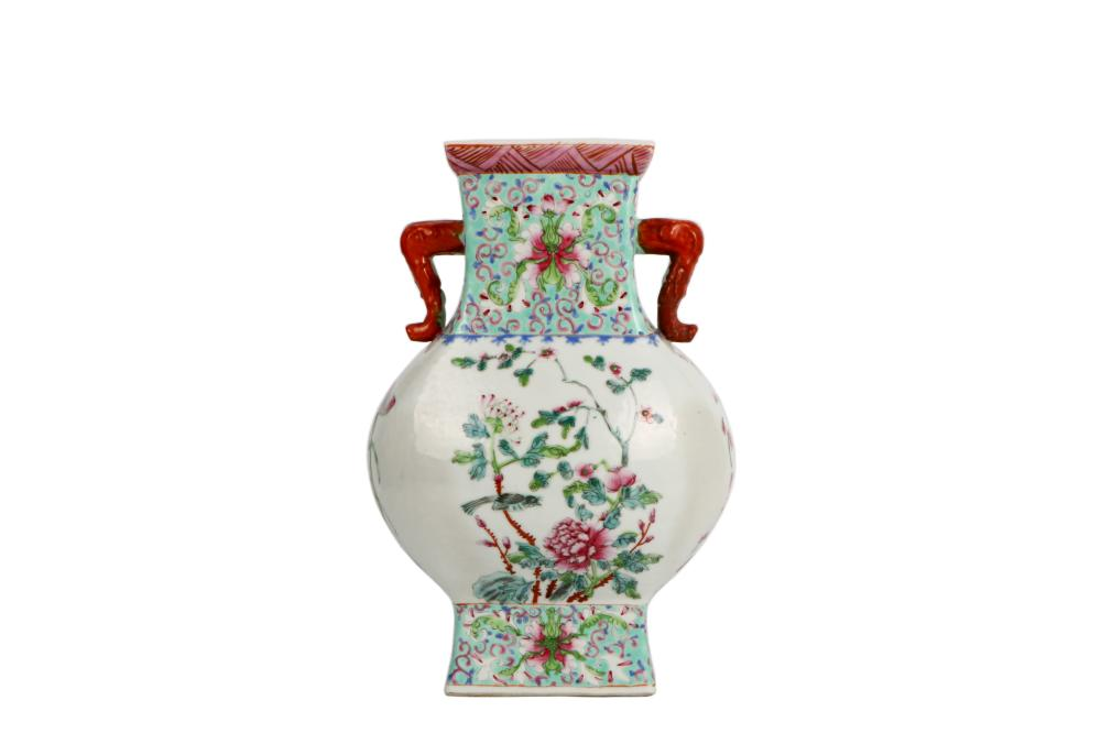 ROC time colorful painted porcelain vase