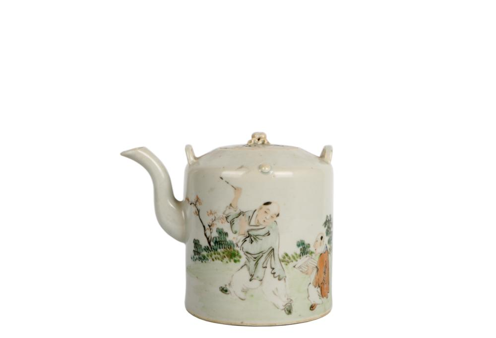 ROC painted Porcelain tea pot