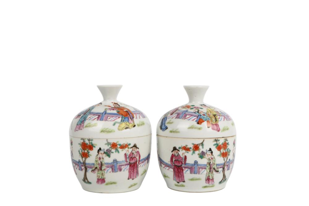 Qing DaoGuang Porcelain can with cover