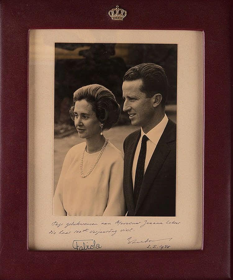 Le roi baudouin et la reine fabiola photographie noir for La photographie