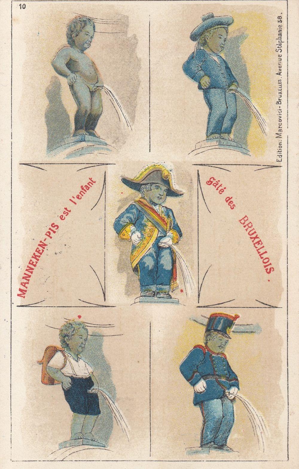 BRUXELLES : MANNEKEN PIS. Environ 110 cartes postales.