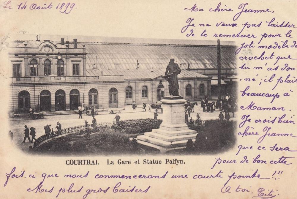 COURTRAI. Ensemble 49 cartes postales, la majorité avan