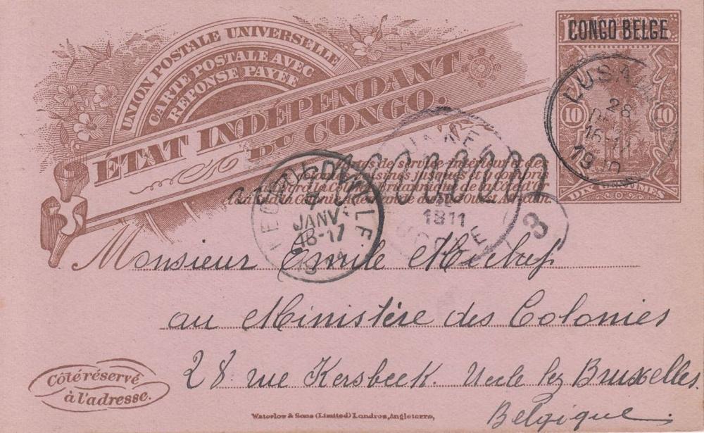 CONGO BELGE. 17 entiers postaux ayant circulé.