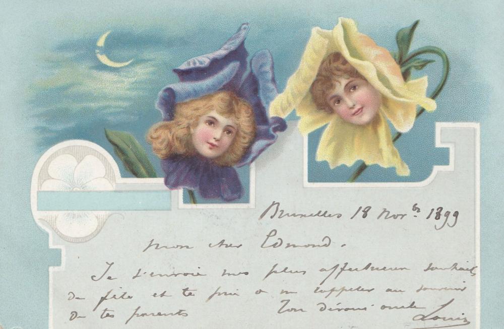 ENFANTS. Environ 330 cartes postales anciennes, certain