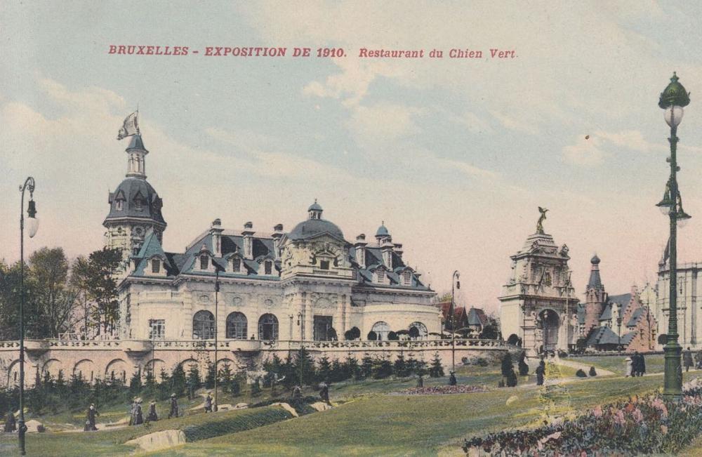 EXPOSITION UNIVERSELLE: Bruxelles 1910. Environ 210 car