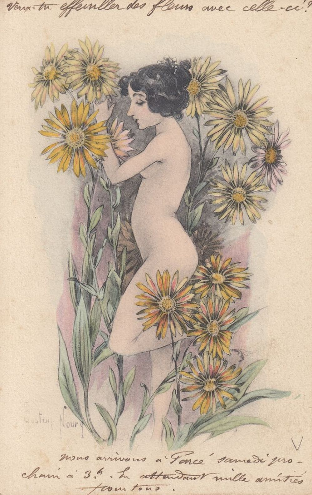 FANTAISIE. JEUNES FEMMES. Environ 216 cartes postales.