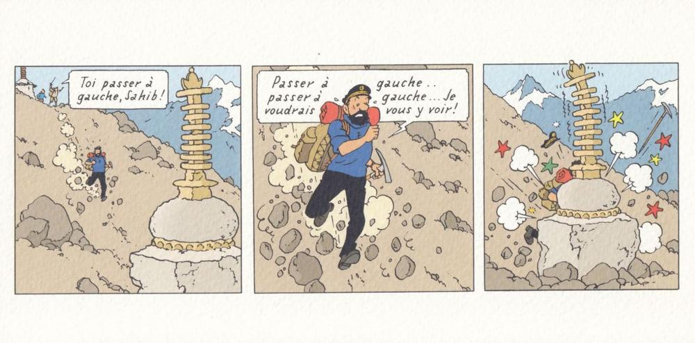 [ILLUSTRATEURS] D'après HERGÉ - Tintin au Tibet. Ensemb