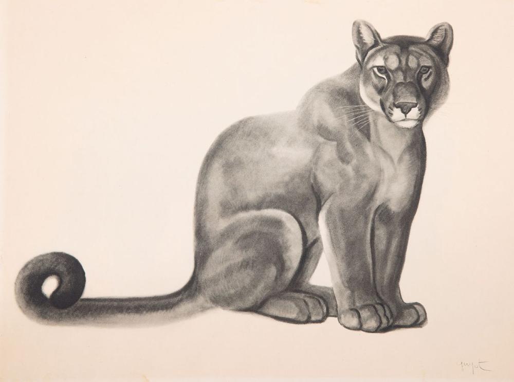 Georges Lucien GUYOT (PARIS, 1885-1973) - Lion et lionn