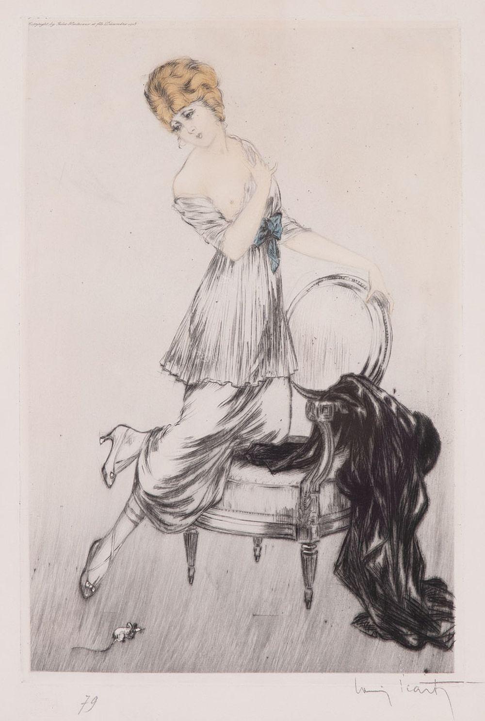 Louis ICART (Toulouse, 1888 - Paris, 1950). - Souris.