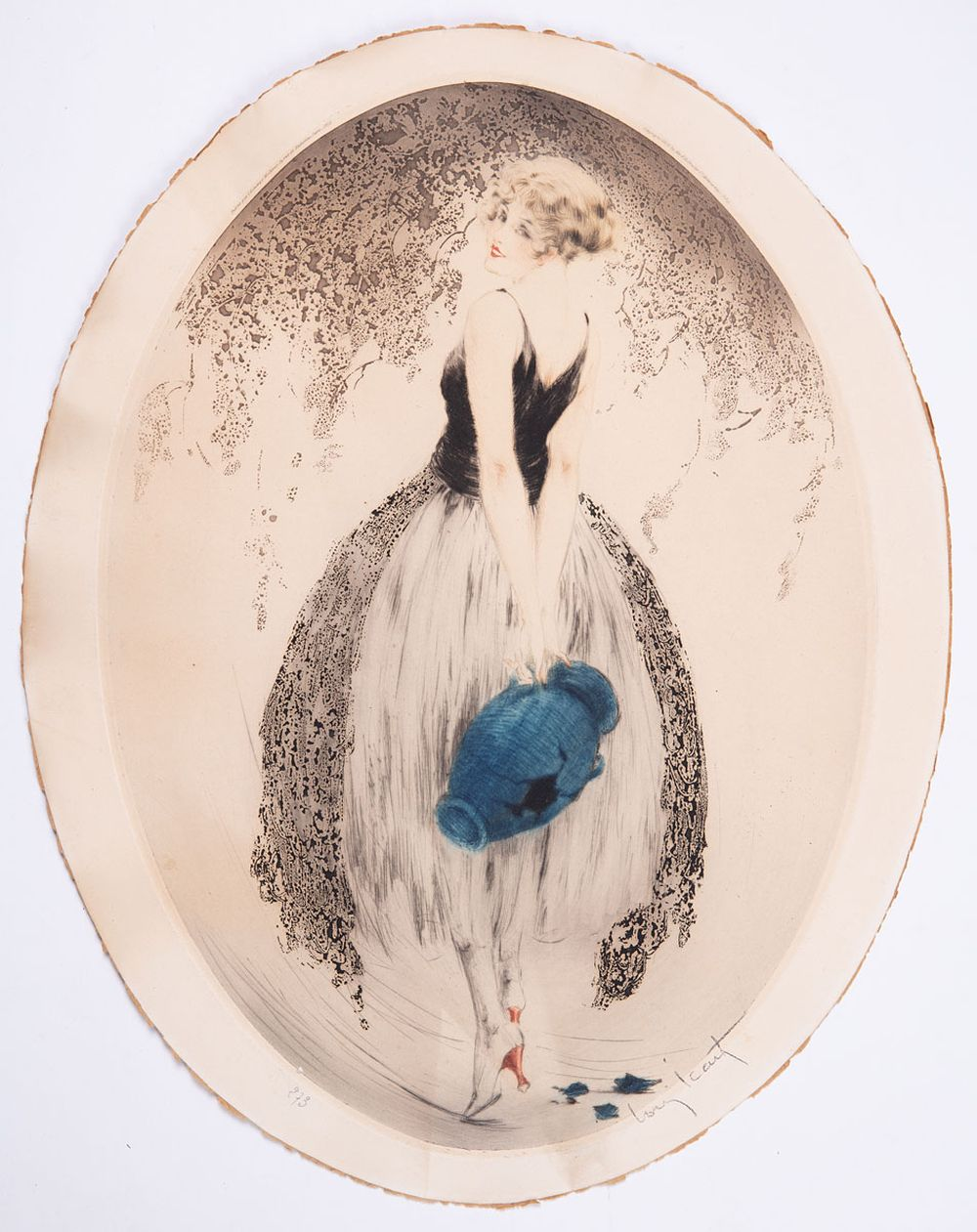 Louis ICART (Toulouse, 1888 - Paris, 1950). - Jeune fil
