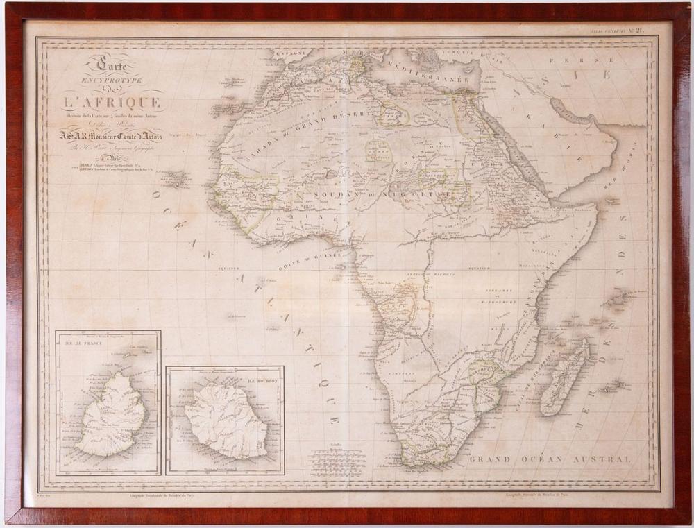 [AFRIQUE] Adrien-Hubert BRUÉ - Carte encyprotype de l'A