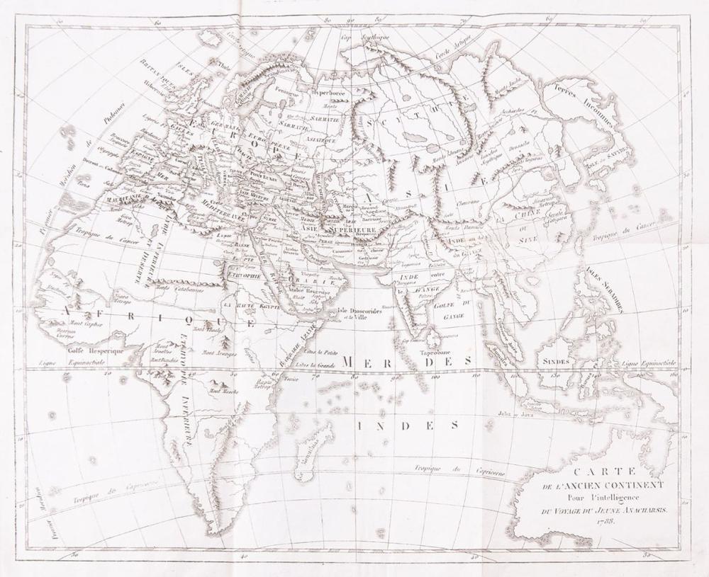 [GRÈCE] [Abbé BARTHÉLEMY ]- Recueil de cartes géographi