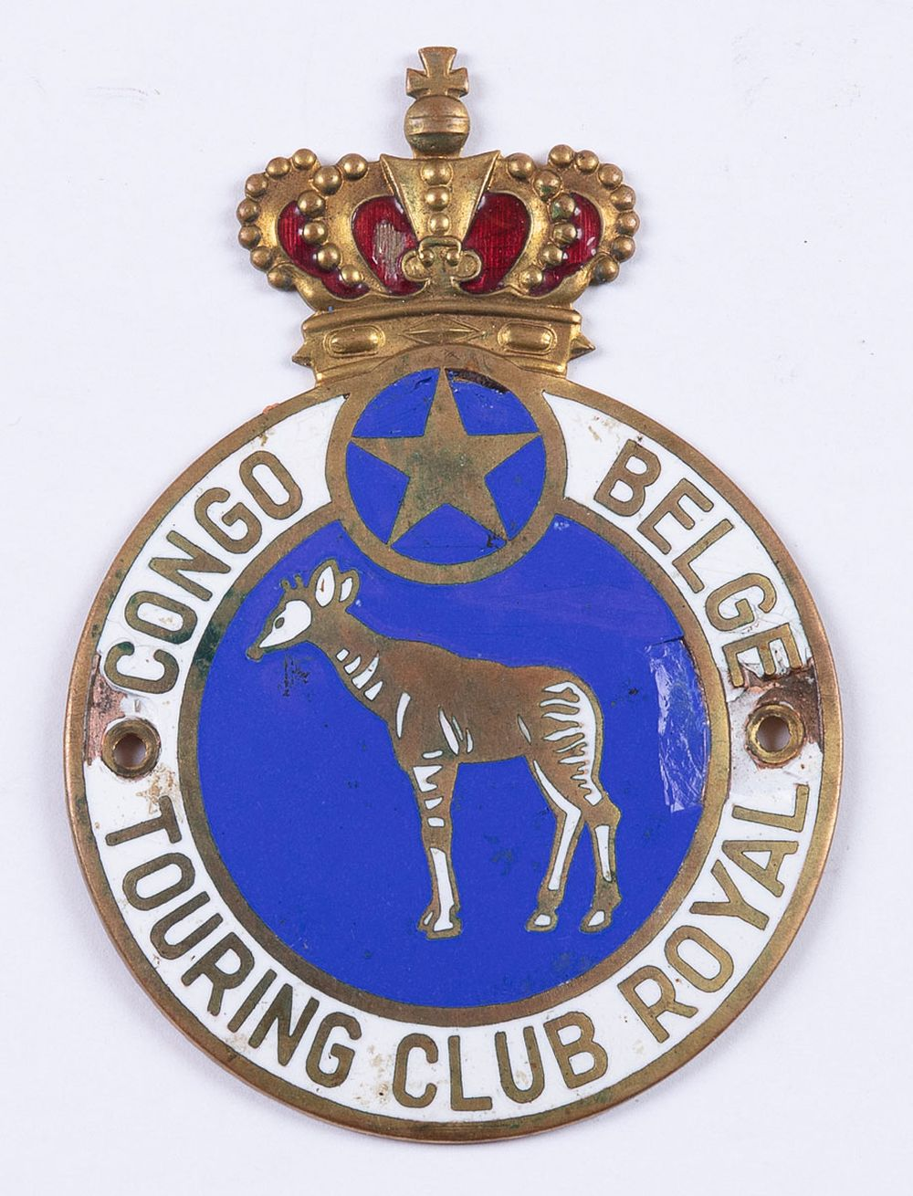 [AUTOMOBILE] CONGO BELGE TOURING CLUB ROYAL. Badge pour