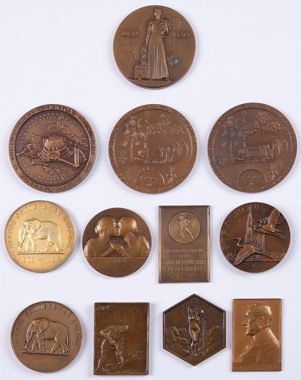 MÉDAILLES DU CONGO BELGE. Ensemble 7 médailles.