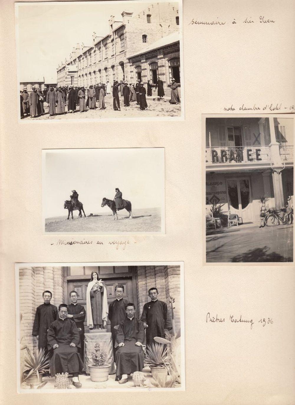 [CHINE] [MISSION DE SIN-JUEN 1931-1939]. Cahier comptan
