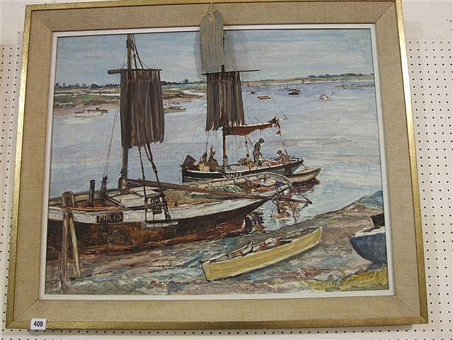 Alfred percy tompkin works on sale at auction biography for Morgans fish house