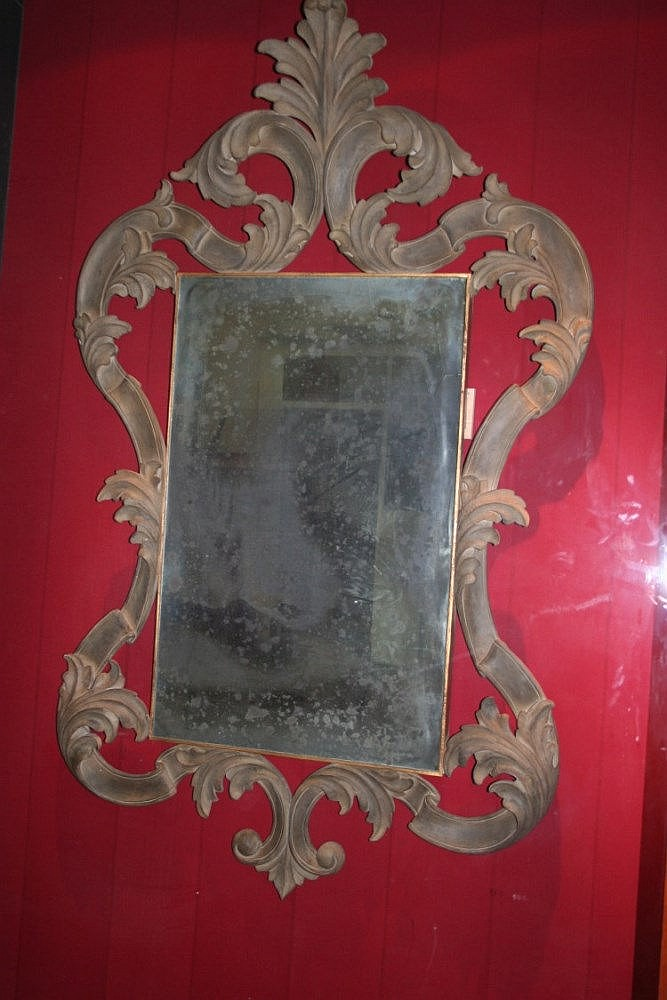 Miroir rectangulaire antique patine l ancienne 1 for Miroir rectangulaire design