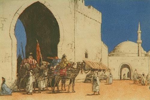 EDGAR L PATTISON (b. 1872) Return Of The Caravan,