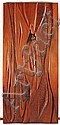 NAOMI SIEGMANN, Sin título (Puerta), Firmada y fechada 1992. Talla en madera, puerta que presenta relieve en ambas cara, 200 x 93 cm