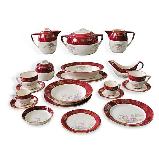 Vajilla cer mica mexicana lofisa colores rojo y blanco de for Vajilla ceramica