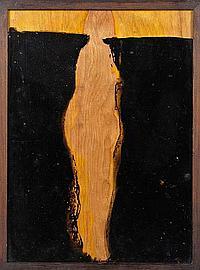 ENRIQUE ECHEVERRÍA, Amarile, s/firma. Acetografía, 39.5 x 28 cm Etiqueta Salón Plástica y Palacio Bellas Artes. Vo.Bo. Ester Echeverría