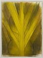 RICARDO MARTÍNEZ, Boceto (Mujer con palma), Firmado y fechado 01. Óleo sobre papel, 34 x 24 cm