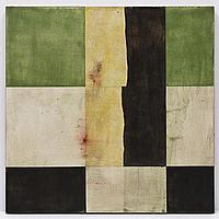 FRANCISCO CASTRO LEÑERO. Verde y negro. Firmado. Óleo sobre tela., 80 x 80 cm, Vo.Bo. Francisco Castro Leñero.