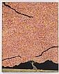 JOSÉ ANTONIO FARRERA, Gran Árbol Rosa, Firmado y fechado 2012. Óleo sobre tela, 150 x 120 cm, Con certificado de autenticidad.