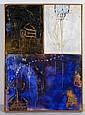 JORDI BOLDÓ, Diálogos XII, Firmada y fechada 1998. Mixta sobre tela sobre madera, 86 x 62 cm, Con certificado de autenticidad.