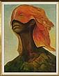 GUILLERMO MEZA, Horizonte y pubertad, Firmado y fechado 1967, Óleo sobre tela. 66 x 50 cm