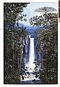 CARLOS RÍOS, El Salto, Firmado. Acrílico sobre tela, 180 x 120 cm, Con certificado de autenticidad.